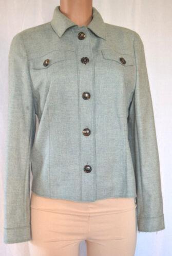 Jacket À Next En Akris Cachemire Green Longues Size Manches Col 10 Buttons aqHwIHz