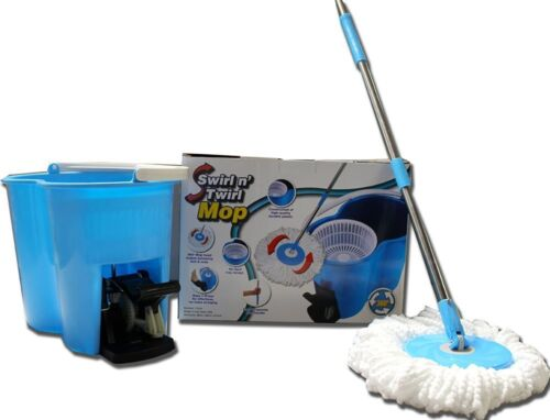 360 Spinning Mop /& Bucket System with Complete Swivel Rotating Magic Mop Bonus