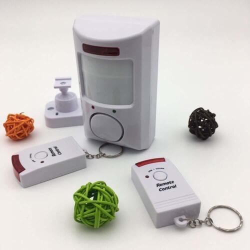 2Pcs Remote Control 105dB Home Security Wireless IR Motion Sensor Alarm System