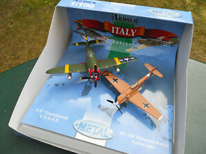 ARMOUR-COLLECTION-1-100-COFFRET-AVIONS-P-47-THUNDERBOLT-BF-109-MINT-IN-BOX