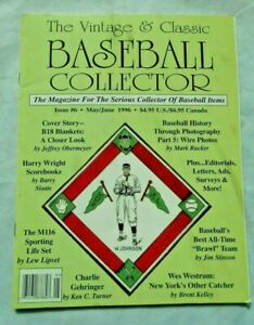 EXC-6-May-June-1996-Vintage-amp-Classic-Baseball-Collector-Magazine-VCBC