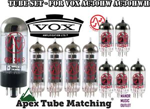 Vox-AC30HW-AC30HWH-TUBE-SET-for-electric-guitar-amp-JJ-Electronics-brand-valves