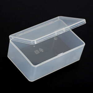 1x-Clear-Plastic-Transparent-With-Lid-Collection-Container-Case-Storage-Box
