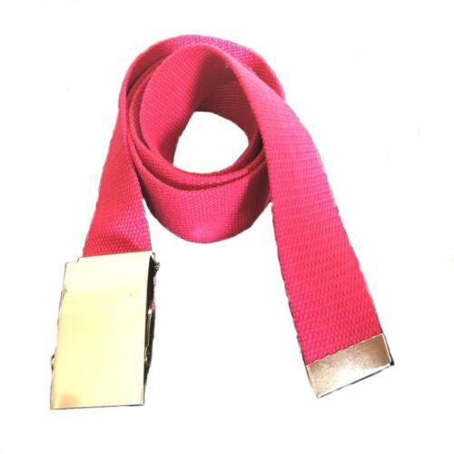 Cintura in tela da donna 110 cm con fibbia argento regolabile sportiva fucsia