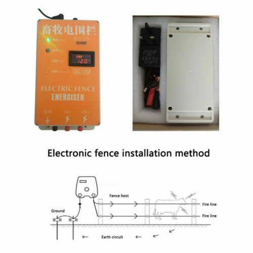 Electric Fence Energizer Charger for Animals Electric Fencing Controller or Part
