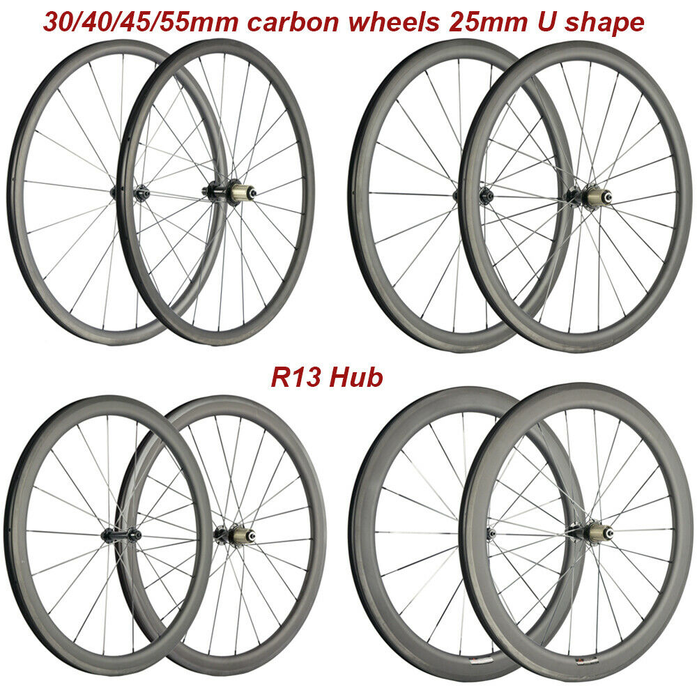 Full Carbon Fiber Road Bicycle Wheels 30 40 45mm Road Bike Wheels Wheelset 25mm