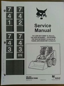 bobcat 741 742 743 743ds service manual book skid steer 6566109 ebay rh ebay com 743B Parts Manual Case 1840 Manual