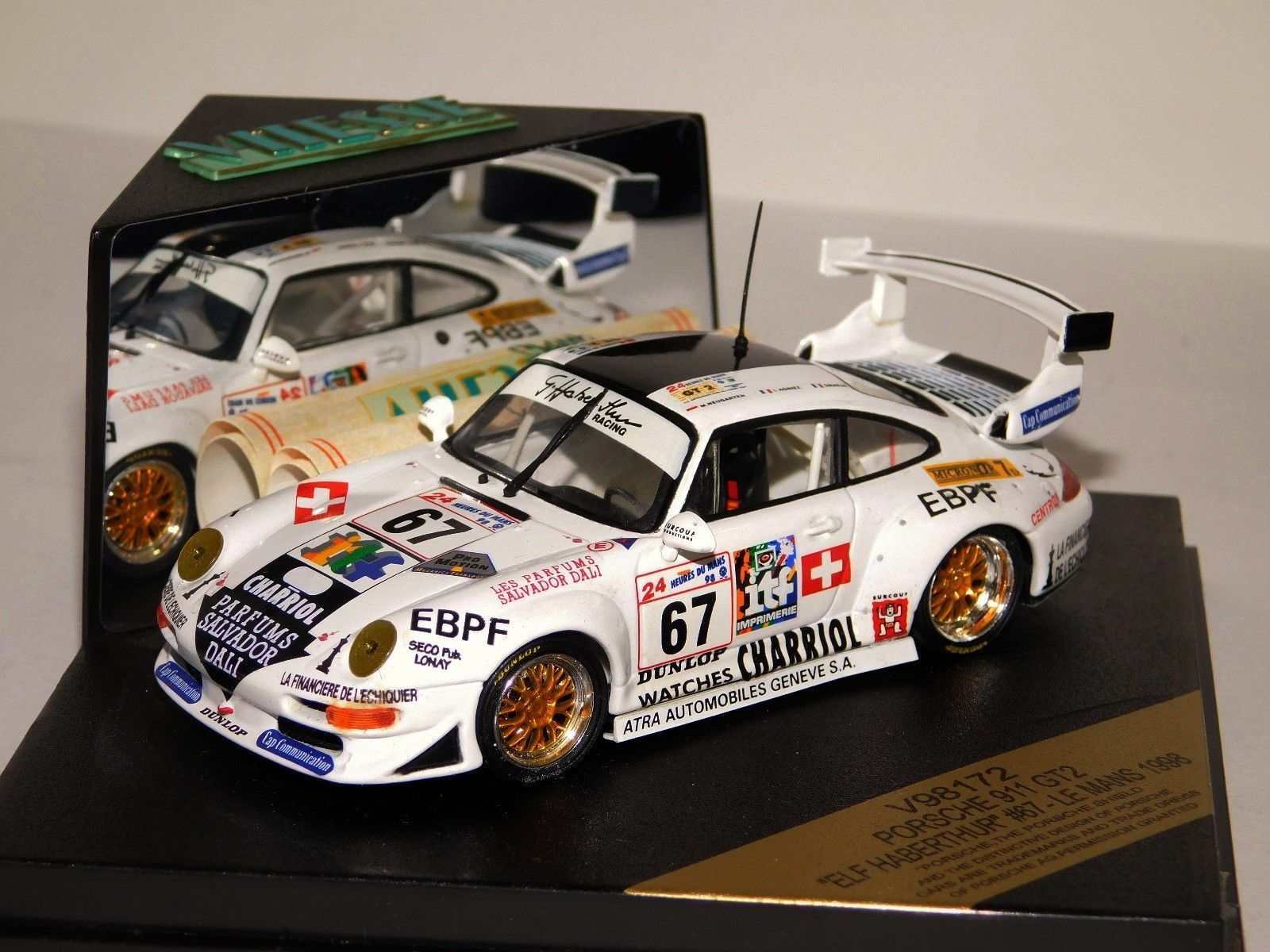 PORSCHE 911 GT2 GT2 GT2 ELF HABERTHUR LE MANS 1998 VITESSE V98172 1 43 c27b74