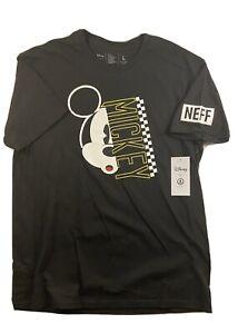 Disney-por-Neff-034-Mickey-Mouse-034-Negro-para-Hombre-Manga-Corta-Camisa-Grande