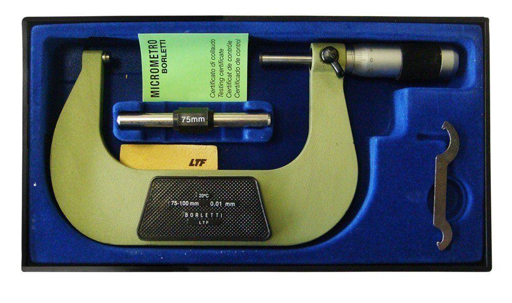 Borletti meln 4W - Mikrometer centesimal Außen, Feld über Größe 75-100 mm