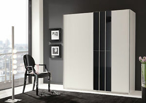 Qmax Cologne 180cm Sliding Door Wardrobe German Bedroom Furniture White Ebay