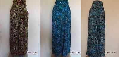 NEW LADIES ETHNIC PRINT PALAZZO WIDE FLARED LEG SUMMER TROUSERS PLUS SIZE 12-22