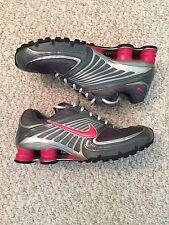 Nike Shox Women's Size 9.5 Gray Pink Grey Silver 9 1/2 Running Sneakers