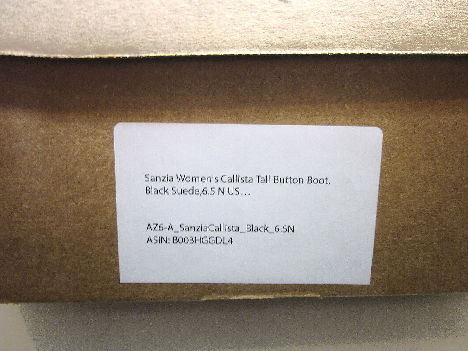 SANZIA, CALLISTA TALL BUTTON BOOT, BLACK SUEDE, WOMENS, US US US 6.5N, NEW W O BOX 071bcb