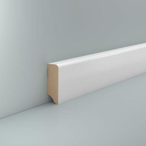 Sockelleiste weiß 58mm Korbach MDF Fußleiste weiß für Laminat Parkett Vinyl