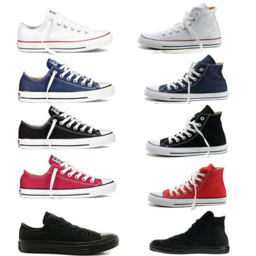 Mens Womens Authentic Classic Athletic Sneakers Low High Top Casual Canvas Shoes