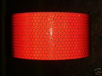 5M X 25MM ORAFOL ORALITE HIGH INTENSITY REFLECTIVE TAPE RED SELF ADHESIVE VINYL