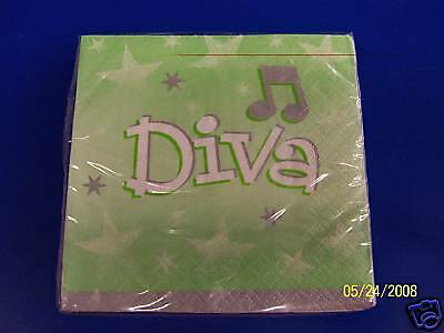 Diva Express Yourself Party Beverage Napkins