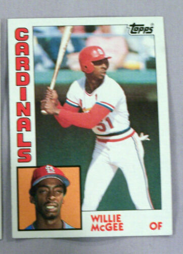 1984 TOPPS WILLIE MCGEE CARDINALS LOT OF 4