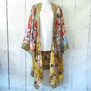 New-Umgee-Duster-Kimono-Cardigan-1X-2X-Asian-Floral-Boho-Peasant-Plus-Size