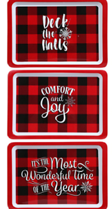 Buffalo Plaid Holiday Platters