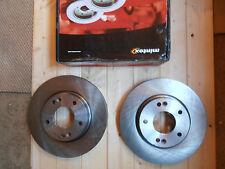 HYUNDAI GALLOPER FRONT BRAKE DISCS 2.5TD 3.0 V6 A PAIR 1991-1998 MINTEX MDC1485