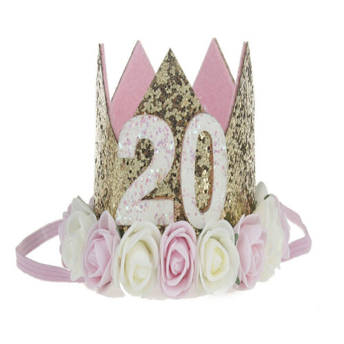 Princess Baby Girl 1st Birthday Flower Crown Party One /& Two Year Hairband 2/_7