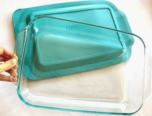 """CHOOSE 8/""""x8/"""" OR 9/""""x13/"""" Pyrex Glass Dish Storage Clear Bake ware Kitchenware Lid"""