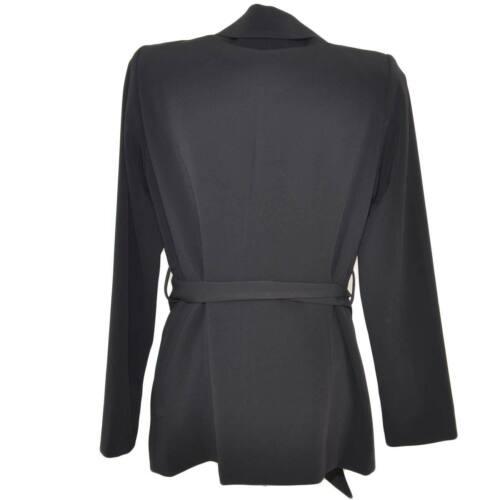 Lunga Cinturone Giacca Donna Manica Vita E In Blazer Luxury Linea Nera Con Clip 71q1xFRw6
