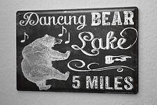 Tin Sign Bar Party Wall Decoration Dancing Bear Metal Plate