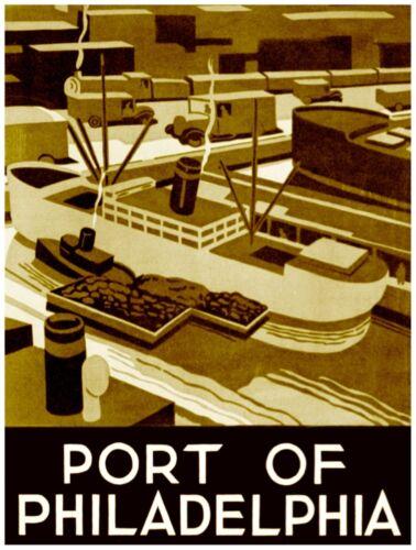 9592.Port of philadelphia.boats docked in port.POSTER.decor Home Office art