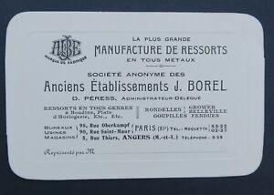 Carte De Visite MANUFACTURE DE RESSORT BOREL Automobile Automobilia Visit Card