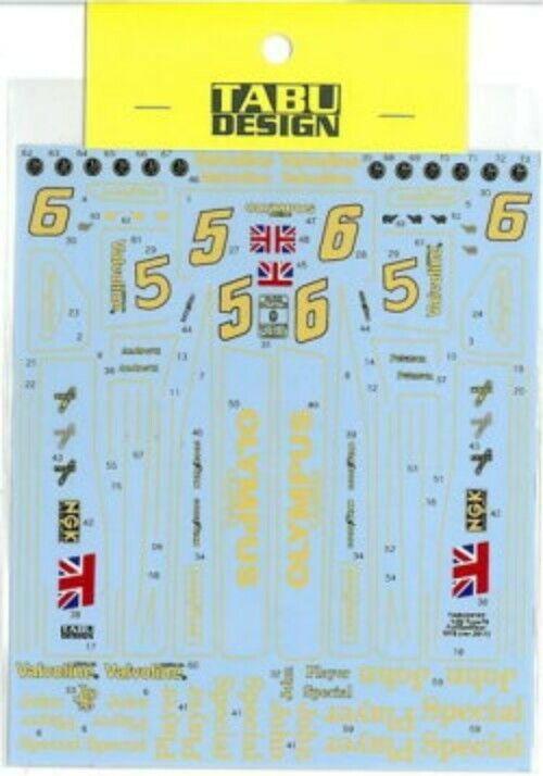 TABU DESIGN 1 20 Type78 1978 ver.2011 for TAMIYA TABU20102 Full Sponsor Decal