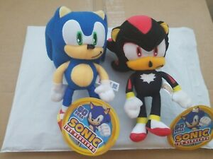 Sonic The Hedgehog Plush Figure Toy Factory 8in Sonic And Shadow Sega Set Doll Ebay