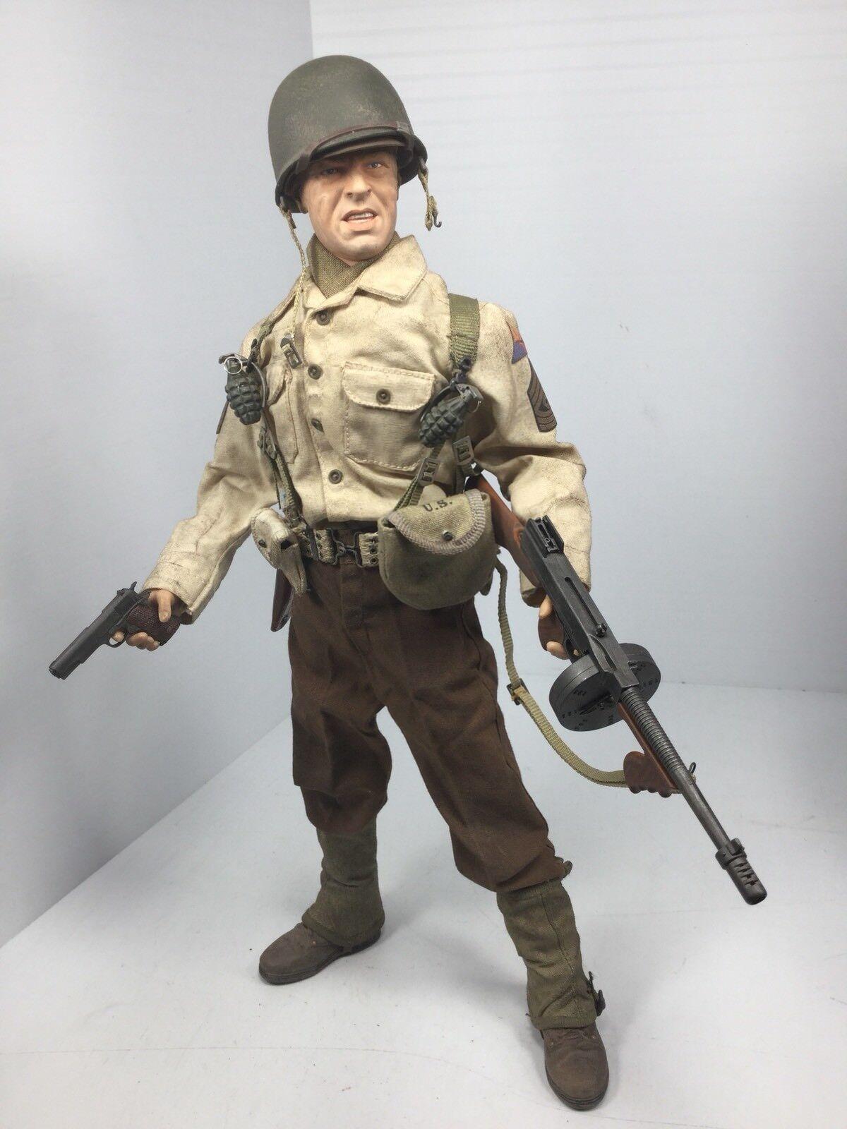 1 6 DRAGON US 1ST ARMORED DIV 1ST SGT THOMPSON & COLT SIDESHOW DID BBI 21st WW2