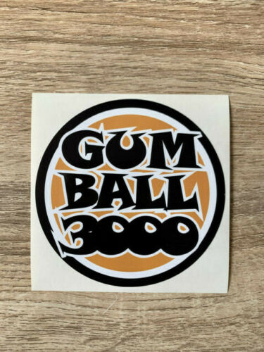 Gumball 3000 stickers autocollant decal 4 taille//size rally auto voiture cars