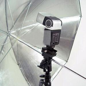 Photo Flash Bracket B Adapter Hot Shoe Swivel Light Stand Mount Umbrella Holder