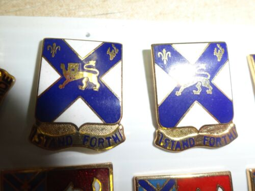 MILITARY INSIGNIA CREST DUI SET OF 2 STAND FORTH 102ND INFANTRY