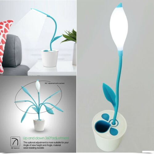 Rechargable Childrens Kids Playroom Bedside Flexible USB Three Touch LED Lamp