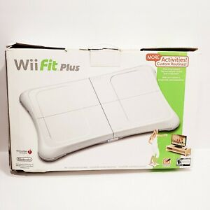 Nintendo Wii Fit Plus with Balance Board Bundle 2 Games Manual ~ Tested ~ Clean