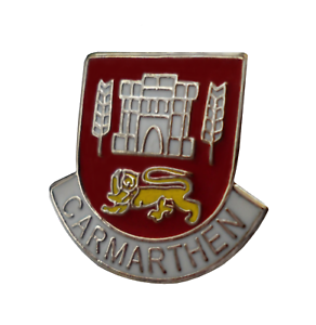 Carmarthen Town Wales Crest Small Pin Badge