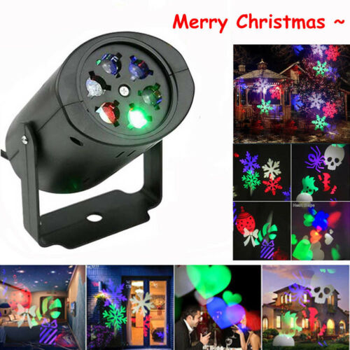 LED Snowflake Projector Christmas Moving Laser Projection Outdoor Indoor Light