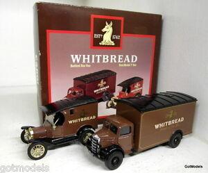 Corgi-1-50-Scale-D94-1-Whitbread-Ford-Model-T-van-amp-Bedford-box-van-Diecast-set