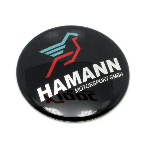 45 mm New Black BMW Car Steering Wheel Emblem Badge Logo Sticker Fits For HAMANN
