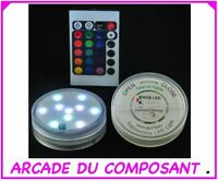 Submersible Multi Color 10 Leds + Telecommande (ref 77343-1)