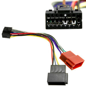 Auto-Radio-Adapter-Kabel-DIN-ISO-Plug-amp-Play-fuer-Kenwood-Kabel-Stecker-KDC-B