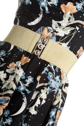 Hell bunny stardust paillettes années 80 ceinture vintage élastique large soulignera votre taille avec