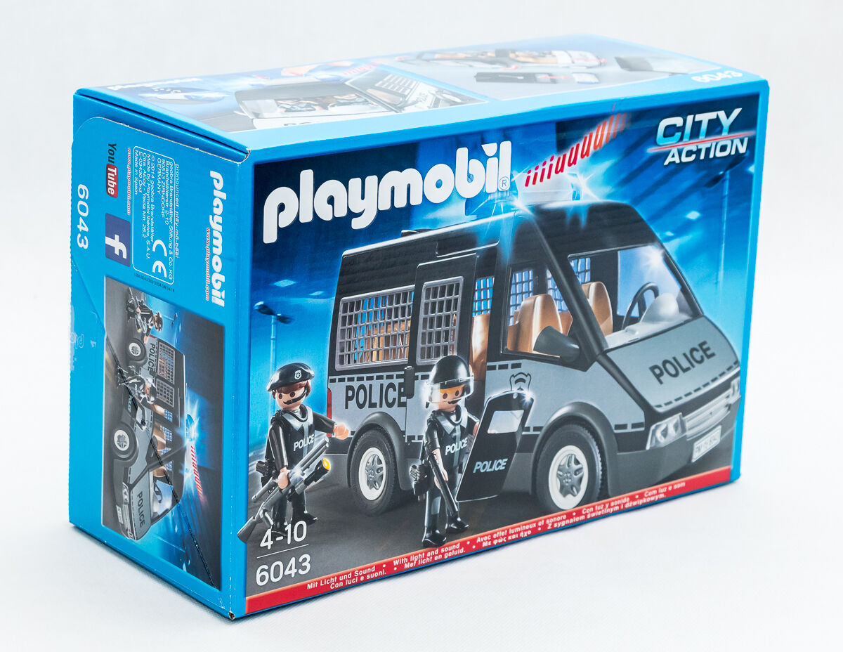 Playmobil 6043 City Police-équipe voiture  avec lumière et Sound TV Publicité  qualité fantastique
