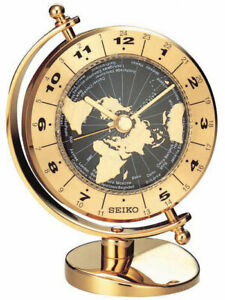 Seiko-Brass-Mantel-Clock-QHG106G-NEW