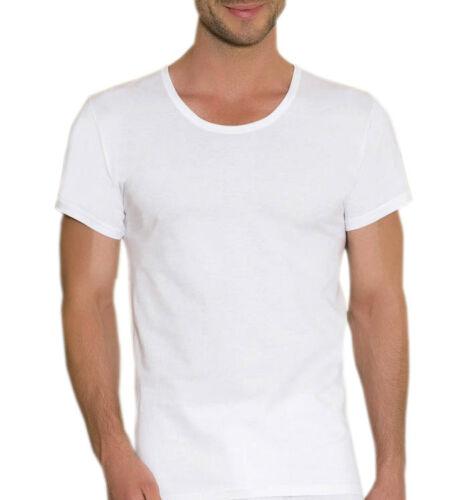 2er 1er 3er Pack Uomo sotto camicia shirt cotone manica corta scollo rotondo